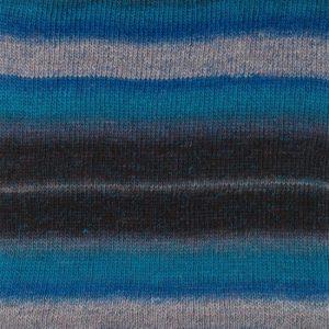 Drops Delight Garn 03 Blå Print