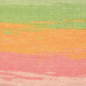 Järbo Elise Garn Print 69018 Orange/Rosa/Grøn