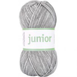 Järbo Junior Garn 67034 Lys Grå Jeans Print