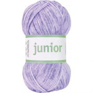 Järbo Junior Garn 67036 Lys Lilla Jeans Print