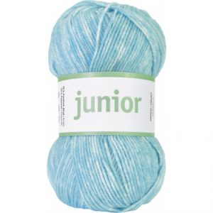 Järbo Junior Garn 67037 Turkis Jeans Print