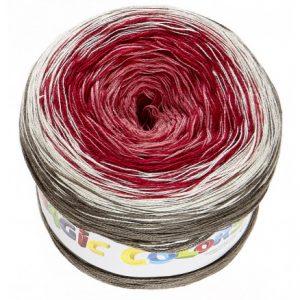 Lammy Magic Color Garn Print 619 Rose