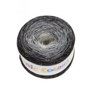Lammy Magic Color Garn Print 905 Salt og Peber Lurex