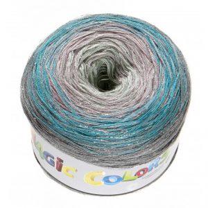 Lammy Magic Color Garn Print 914 Frost Lurex