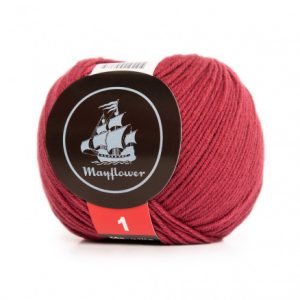 Mayflower Cotton 1 Garn 157 Rubinrød