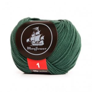 Mayflower Cotton 1 Garn 158 Grangrøn