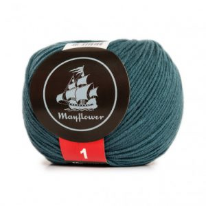 Mayflower Cotton 1 Garn 161 Påfugleblå