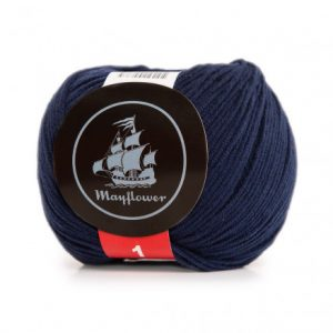 Mayflower Cotton 1 Garn 163 Admiralblå