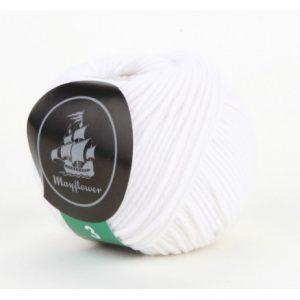 Mayflower Cotton 3 Garn 322 Hvid