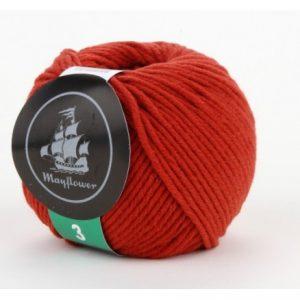 Mayflower Cotton 3 Garn 330 Rustrød
