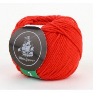 Mayflower Cotton 3 Garn 345 Rød