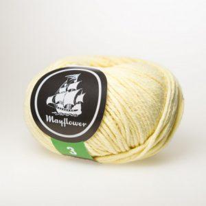 Mayflower Cotton 3 Garn 352 Lys Gul