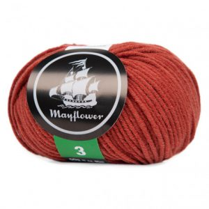 Mayflower Cotton 3 Garn 370 Rød okker