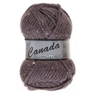 Lammy Canada Garn Mix 470 Mørk Lilla/Natur/Brun