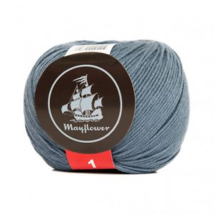 Mayflower Cotton 1 Garn 162 Jeansblå