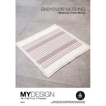 Mayflower Babysvøb Musling - Babysvøb Hækleopskrift 90x90cm